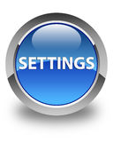 Settings glossy blue round button Stock Photo