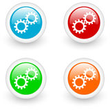 Settings glossy icon Royalty Free Stock Photo