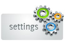 Settings icon Stock Images