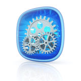 Settings icon 3d Royalty Free Stock Images