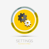 Settings icon company logo, minimal design Royalty Free Stock Image