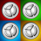 Settings icon with gears Stock Photo