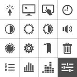 Settings icon set. Control icons. Vector illustration. Simplus series Royalty Free Stock Photo