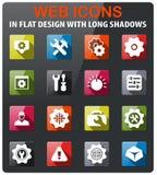 settings icon set Royalty Free Stock Photography