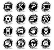 settings icon set Stock Image
