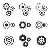 Settings icon set. Settings vector icons set. Black illustration isolated on white background for graphic and web design Royalty Free Illustration