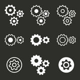 Settings icon set. Royalty Free Stock Photography