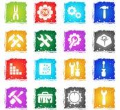 Settings icon set Stock Photography