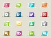 settings icon set Stock Photo
