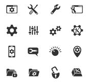 Settings icon set. Settings web icons for user interface design Stock Photo