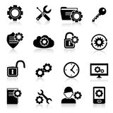 Settings icons black Royalty Free Stock Photos