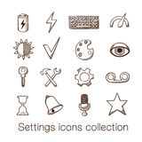 Settings icons collection. Stock Photography