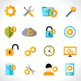 Settings icons flat Stock Image