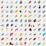 100 settings icons set, isometric 3d style Royalty Free Stock Photo