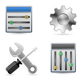 Settings Icons for Website Stock Photo