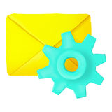 Settings of letters icon, cartoon style Royalty Free Stock Photography