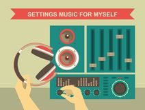 Settings Music For Myself Stock Photography