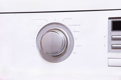 Settings panel with a large round control button. A settings panel with a large round control button Stock Image