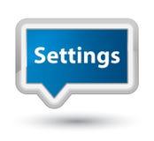 Settings prime blue banner button Stock Photos