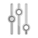 Settings regulators icon image Royalty Free Stock Images