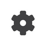 Settings simple icon. Vector, filled flat sign, solid glyph isolated on white. Cogwheel, gear symbol, logo illustration. Pixel perfect vector graphics Royalty Free Stock Photography