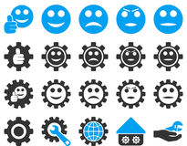 Settings and Smile Gears Icons Royalty Free Stock Photography
