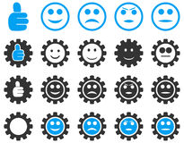 Settings and Smile Gears Icons Stock Photo