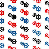 Settings symbol seamless pattern Royalty Free Stock Images