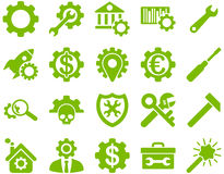 Settings and Tools Icons Stock Images