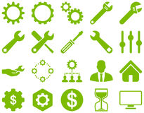 Settings and Tools Icons Stock Photo
