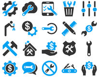 Settings and Tools Icons Royalty Free Stock Photo