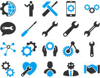 Settings and Tools Icons Royalty Free Stock Photography