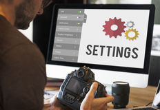 Settings Tools Setup System Concept Royalty Free Stock Photos