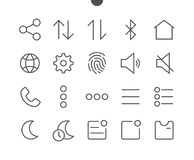 Settings UI Pixel Perfect Well-crafted Vector Thin Line Icons 48x48 Ready for 24x24 Grid for Web Graphics and Apps with. Editable Stroke. Simple Minimal Stock Photography