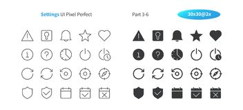 Settings UI Pixel Perfect Well-crafted Vector Thin Line And Solid Icons 30 2x Grid for Web Graphics and Apps. Simple Minimal Pictogram Part 3-6 Stock Photo