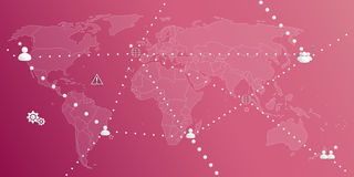 Settings vector pack in pink Royalty Free Stock Image