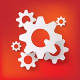 Settings web icon, flat design Royalty Free Stock Image