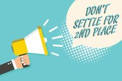 Settle de Don t del texto de la escritura de la palabra no para el 2do lugar El concepto del negocio para usted puede ser el prim Imagen de archivo