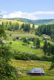 Settlement in the Carpathian mountains Royalty Free Stock Image