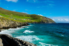Settlement at the Coast of Slea Head in Ireland Royalty Free Stock Image