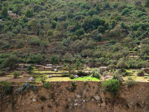 Settlement at Colca Canyon Stock Image