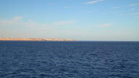 Settlement on a deserted beach. Red sea. Sinai peninsula stock footage