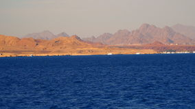 Settlement on the deserted shore of the Sinai peninsula stock video footage
