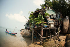 The settlement of fishermen in Thailand Royalty Free Stock Photography