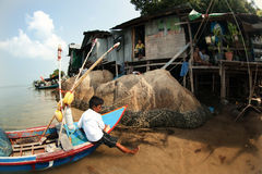 The settlement of fishermen in Thailand Royalty Free Stock Photo