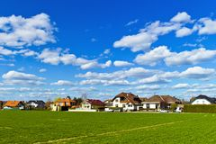 Settlement of houses Stock Image