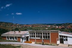A settlement in Kosovo Stock Image