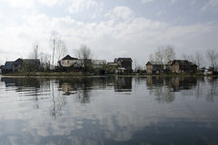 Settlement on lake royalty free stock photography