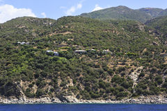 Settlement of monks on Mount Athos. Stock Images
