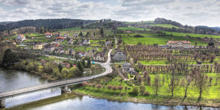 Settlement Near The River Stock Photography